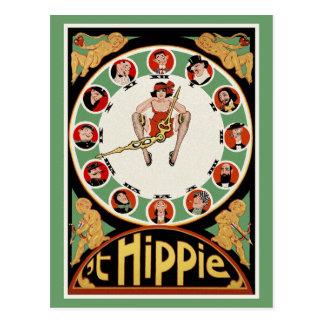 Vintage Postcard:   't Hippie by C. Verschuuren