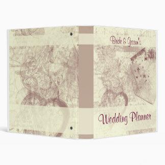 Vintage Postcard Wedding Planner 3 Ring Binder