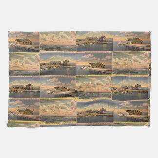 "Vintage Postcards ""Kelley's Island""  Kitchen Towel"