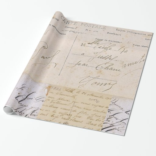Vintage Postcards Gift Wrapping Paper