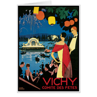 Vintage Poster Art Vichy France Card