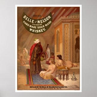 Vintage Poster: Belle of Nelson Whiskey Poster