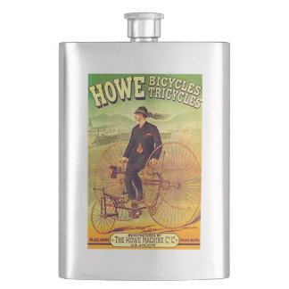 VINTAGE POSTER - BICYCLES HIP FLASK