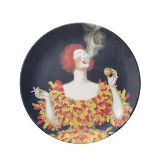 Vintage Poster Cachou Lajaunie Plate