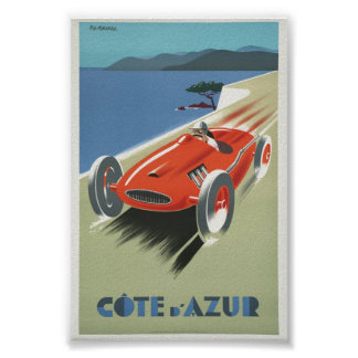 Vintage Poster Cote de Azur French the Riviera