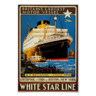 Vintage Poster for the White Star Line