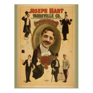 Vintage Poster - Joseph Hart Vaudeville Co - 1899 Postcard