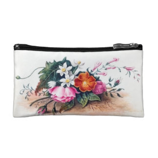 Vintage Poster on Cosmetics Bag - Anne Wagner Makeup Bags