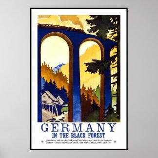 Vintage Poster Print Black Forest Germany