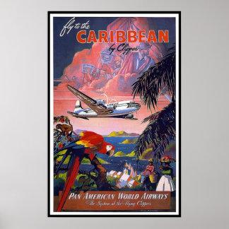 Vintage Poster Print Caribbean
