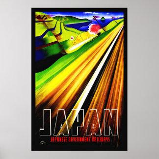 Vintage Poster Print Japan Japanese Railway