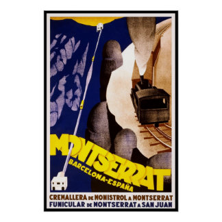 Vintage Poster Print Montserrat San Juan