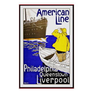 Vintage Poster Print Philadelphia Queenstown Large
