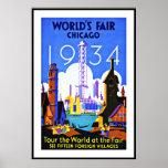 Vintage Poster Print World's Fair Chicago Travel
