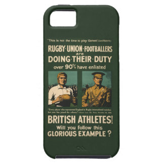 Vintage Poster: Rugby players call for duty iPhone 5 Cover
