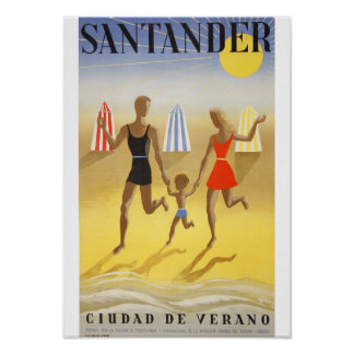 "Vintage poster: ""Santander, City of Summer "" Poster"