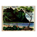 Vintage Poster, Tropical Island Beach Poster