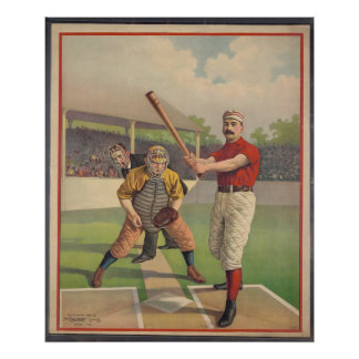 Vintage Posters, American Baseball 1895 Poster
