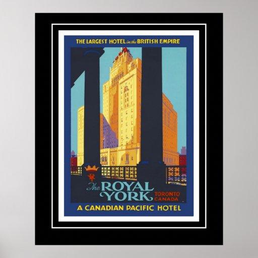 Vintage Posters Travel Historica Royal York Canada