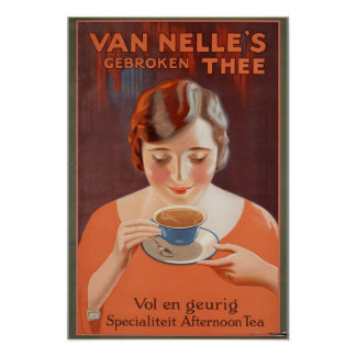 Vintage Posters, Woman Drinking Tea Poster