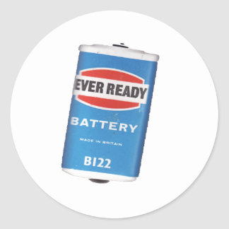 vintage power classic round sticker