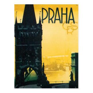Vintage Prague (Praha) Fine Travel Poster Postcard
