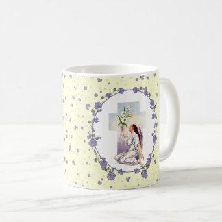 Vintage Praying Angel. Easter Gift Mugs