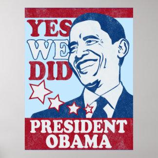 Vintage President Obama Poster