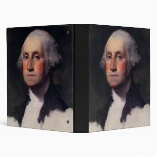Vintage President portrait of George Washington Vinyl Binder
