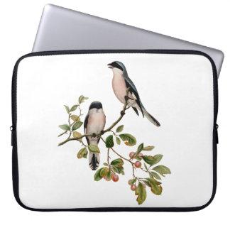 Vintage Pretty Birds on a Branch Laptop Sleeve