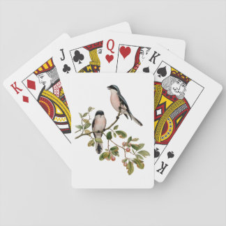 Vintage Pretty Birds on a Branch Playing Cards