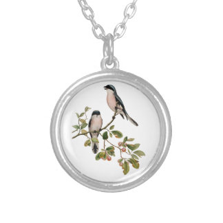 Vintage Pretty Birds on a Branch Silver Plated Necklace