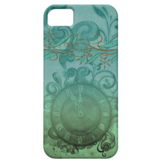 vintage pretty steampunk time clock and swirls iPhone 5 covers