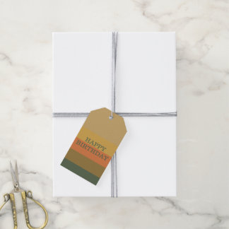 Vintage Primers Palette Stripe Personalized Gift Tags