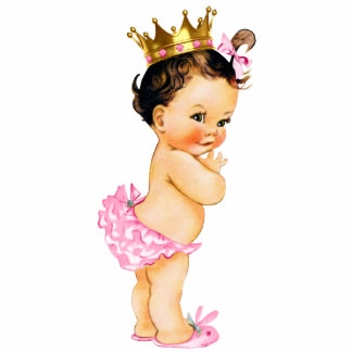 Vintage Princess Baby Girl Shower Standing Photo Sculpture