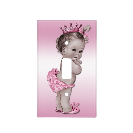 Vintage Princess Baby Pink Light Switch Cover