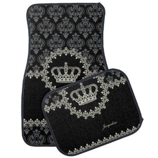Vintage Princess Damask Crown Auto Mat