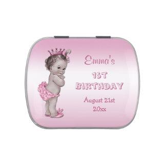 Vintage Princess Pink 1st Birthday Party Favor