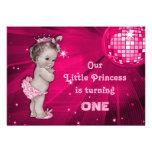 Vintage Princess Pink Disco Ball 1st Birthday