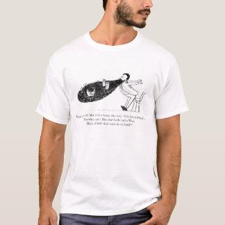 Vintage Print Edward Lear Beard Poem T-Shirt