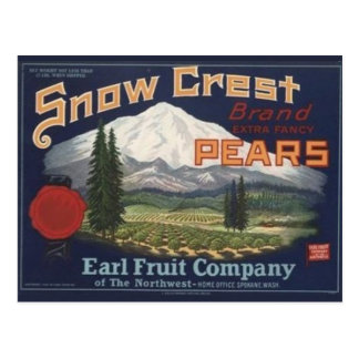 Vintage Produce Crate Label Postcard