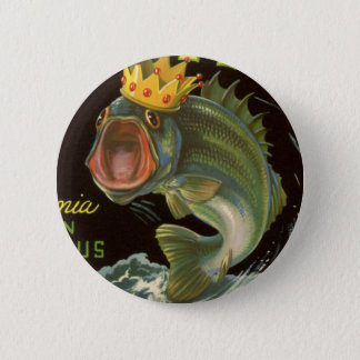 Vintage Product Can Label Art, Kingfish Asparagus 2 Inch Round Button