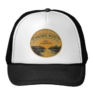 Vintage Product Label Art, Golden West Oil Company Trucker Hat