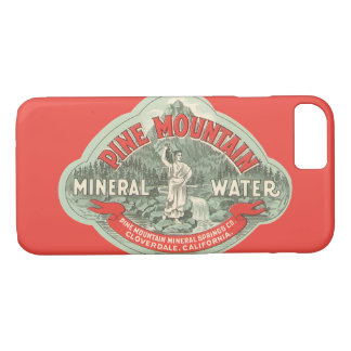 Vintage Product Label, Pine Mountain Mineral Water Case-Mate iPhone Case
