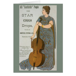 Vintage Product Label, Star Cough Drops Card