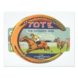 Vintage Product Label Tote Sportsman s Tonic Invites