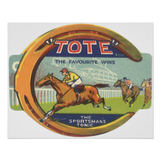 Vintage Product Label Tote Sportsman s Tonic Posters