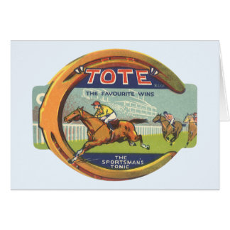 Vintage Product Label; Tote Sportsman's Tonic Greeting Card