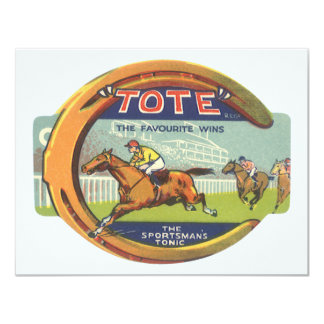 Vintage Product Label; Tote Sportsman's Tonic Invites