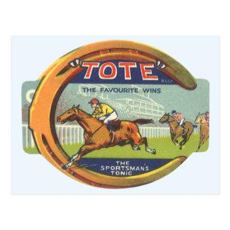 Vintage Product Label; Tote Sportsman's Tonic Postcard